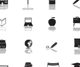 Different Black Icons 2 vector set