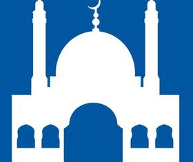 Mosque Silhouette Graphics art vector