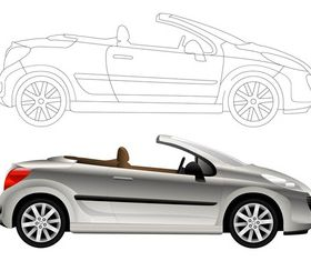 Convertible Car Graphics art vectors