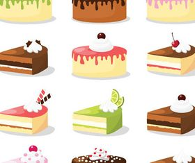 Colorful Cakes vector
