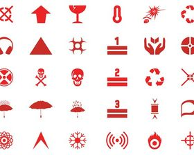 Hazard Symbols And Icons art vector