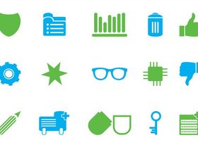 Icons Set Art vector