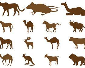 Animal Silhouette creative vector