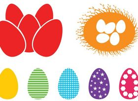 Easter Eggs Silhouettes vector
