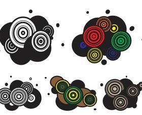 Abstract Circles Layouts Art Illustration vector