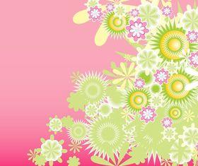 Green Decorative Flowers Art vector