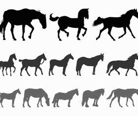 Horse Silhouettes art vectors