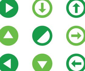 Round Icons Graphics vectors material