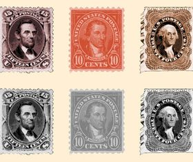 Postage Stamps free vector