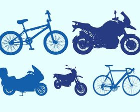 Bicycles And Motorbikes design vector