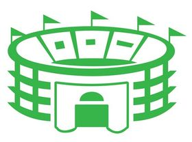 Stadium Building Graphics art vector