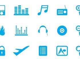 Random Icons free vector