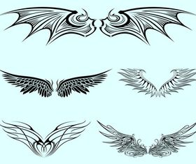 Pairs Of Wings free vector graphic