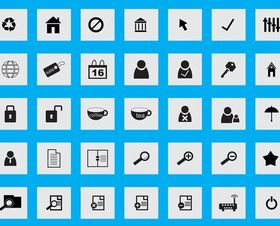 Icons Graphics design vectors