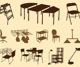 Furniture Silhouettes art vector