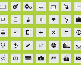 Square Icons Graphics shiny vector