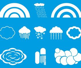 Clouds And Weather art vectors