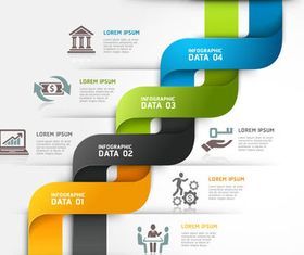 Different Infographics vectors graphic