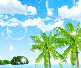 Tropical Islands art vector