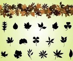Fall Leaves vectors material