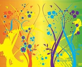Flower Jungle creative vector