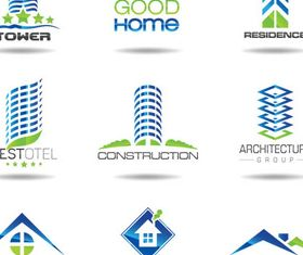 Real Estate Logotypes 6 vector material