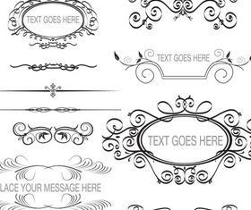 Ornament Borders Elements 7 design vectors