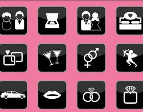 Love Icons Graphics vectors