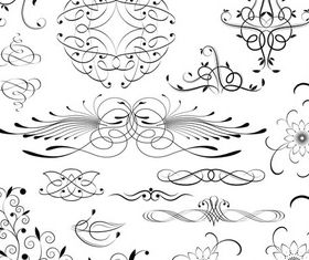 Ornate Floral Elements (Set 24) vector