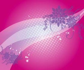 Floral Backdrop vector material