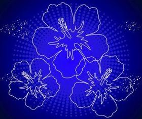 Hawaii Flowers vector