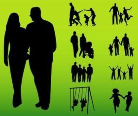 Happy Families vectors graphic