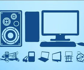 Hi-Tech Devices Illustration vector
