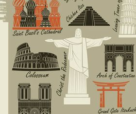 Different Landmarks free set vector