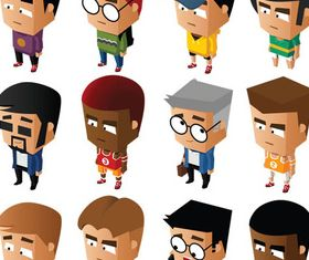 Different Cartoon art vector