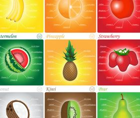 Summer Shiny Fruits art vector