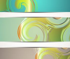 Swirly Banner vector graphic