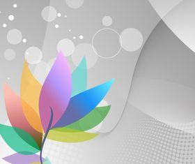 Rainbow Floral vector