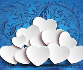 Blue Heard Background art vector