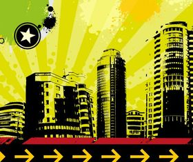 Grungy Urban Background vectors graphic