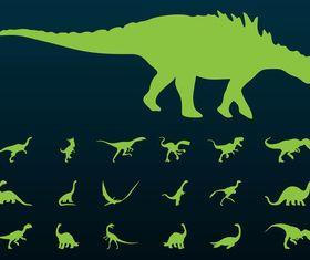 Dinosaurs Silhouettes vectors