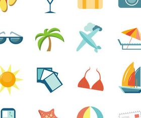 Travel Icons free vectors graphic