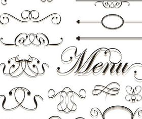Menu Elements 18 vector