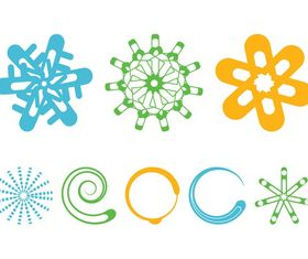 Colorful Round Designs vectors graphics