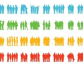 Groups Of People graphic vector