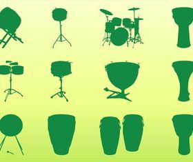 Percussion Instruments Graphics art design vectors