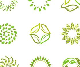 Leaves Green Logotypes Illustration vector