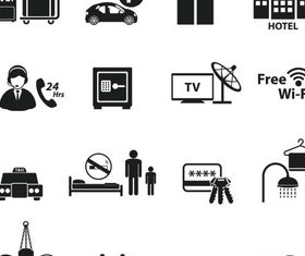 Silhouette Travel Icons vectors