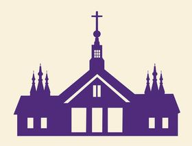 Church Silhouette Graphics art vector