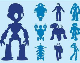 Robots Graphics vector graphics